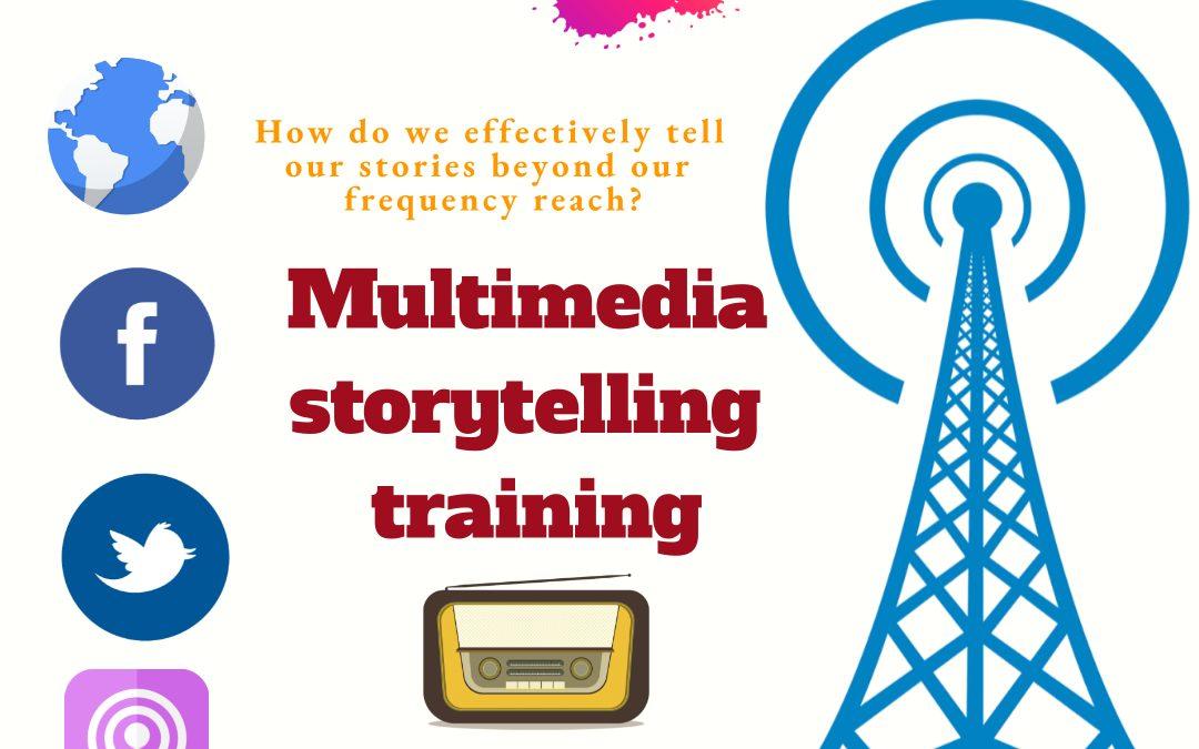 Multimedia storytelling for community radio journalists